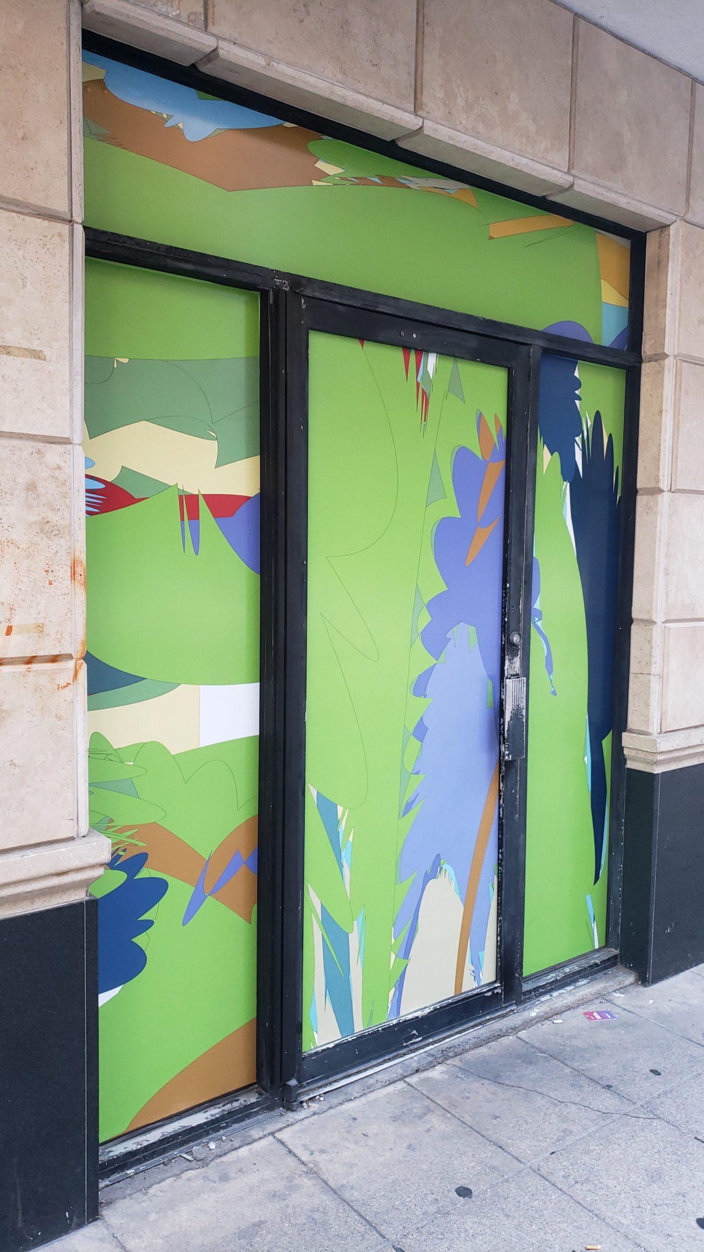 Public Abstract Door Art