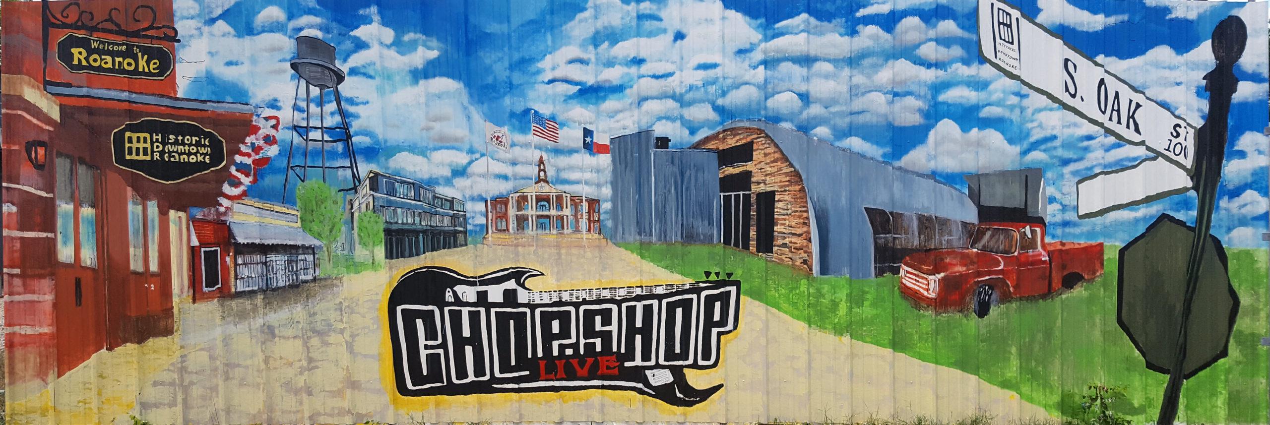 Chop Shop Mural Print