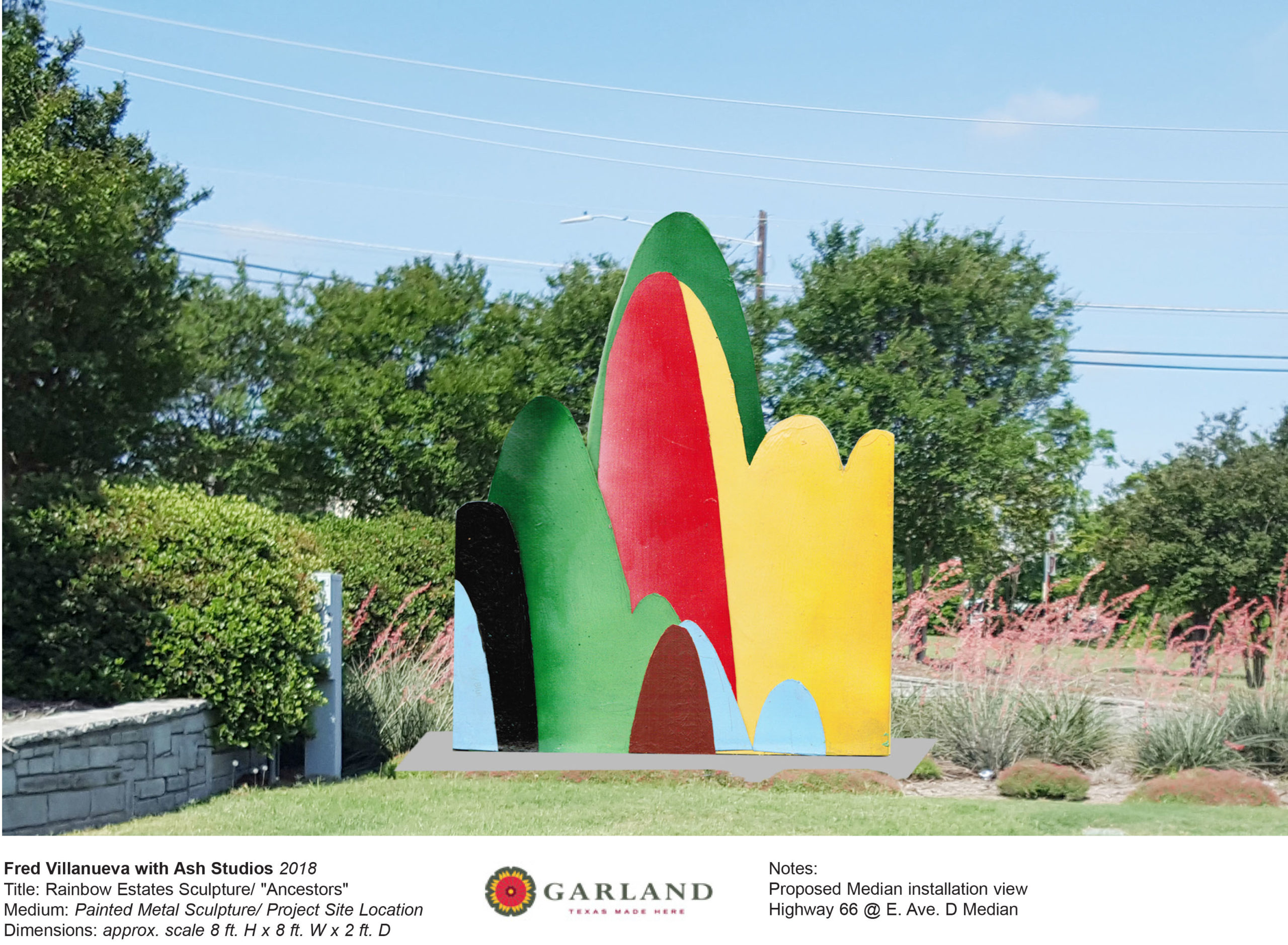Rainbow Estate Sculpture